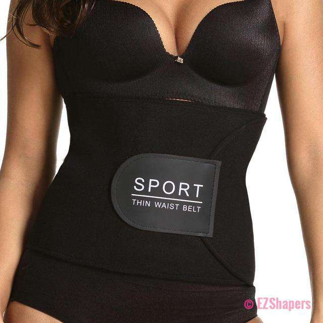Neoprene Black Waist Tummy Trimmer Slimming Belt