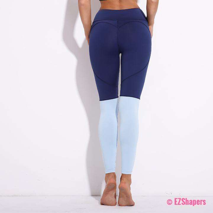 Fitness Heart Patchwork Leggings