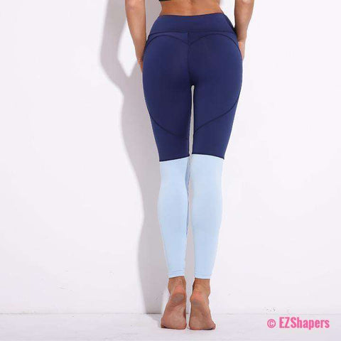 Image of Fitness Heart Patchwork Leggings
