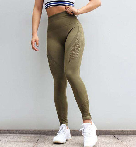 Image of Sports Seamless Tummy Control Yoga Pants