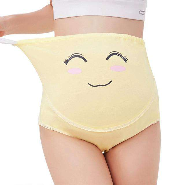 Cartoon Maternity Belly Support Underwear
