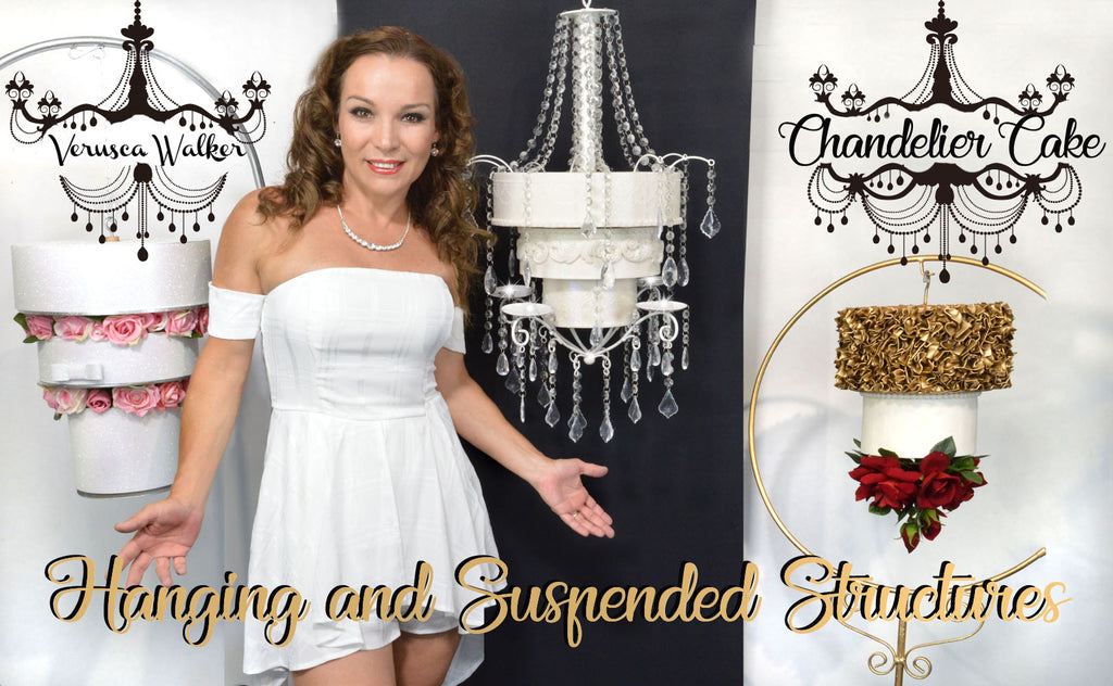 January Youtube Video - HANGING CHANDELIER CAKE