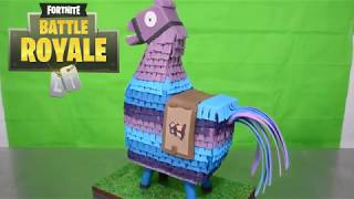 Loot llama 3D Cake Fortine and cookie cutters
