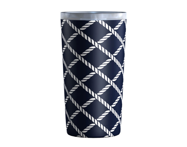 Boat Rope White Navy