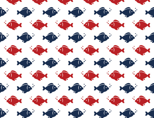 Fish Step Red Navy
