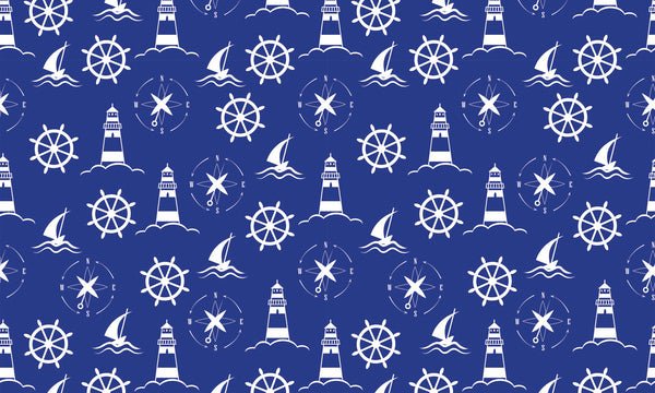Nautical Step White Blue