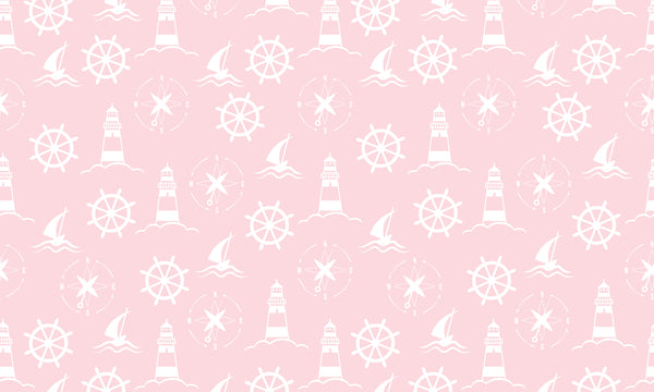 Nautical Step White Pink