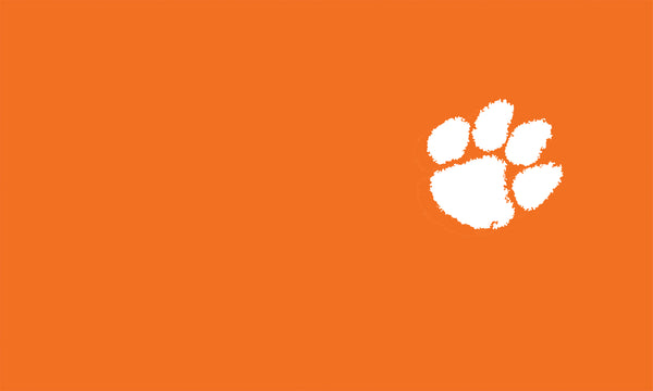 Clemson White Paw On Orange
