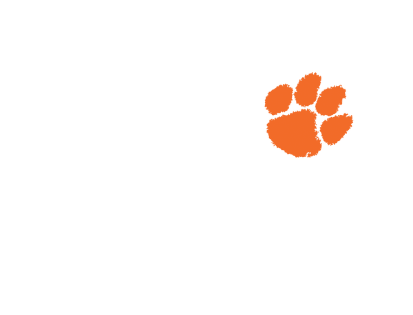 Clemson Orange Paw Stainless
