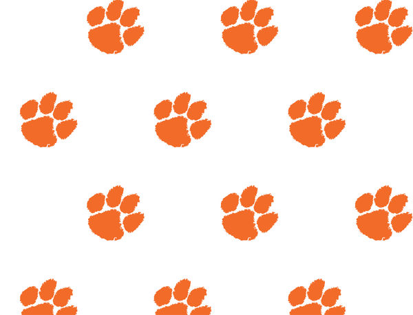 Clemson Paws All Over White