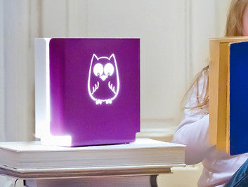 night light in purple with owl design