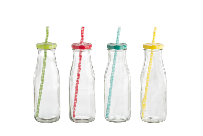 RetroKitchen Milk Bottle - Set of 4