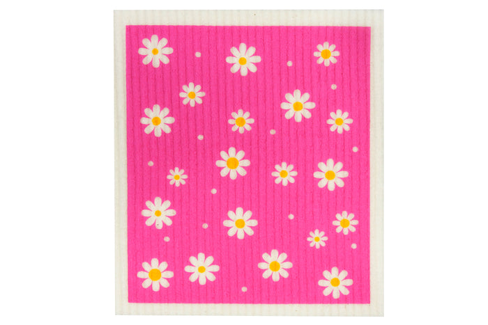 RetroKitchen biodegradable kitchen sponge cloth - Daisy design