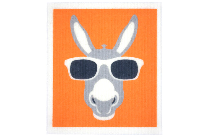 RetroKitchen biodegradable kitchen sponge cloth - Donkey design