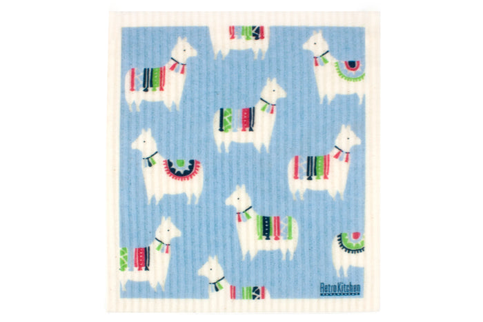 RetroKitchen sponge cloth - llamas design