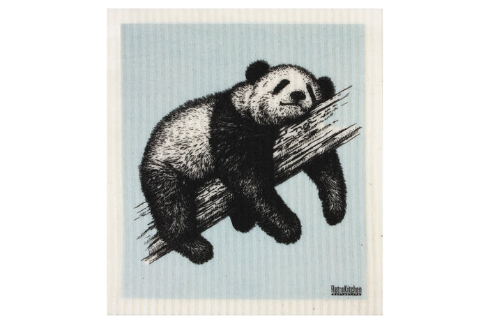 RetroKitchen biodegradable kitchen sponge cloth - Panda design