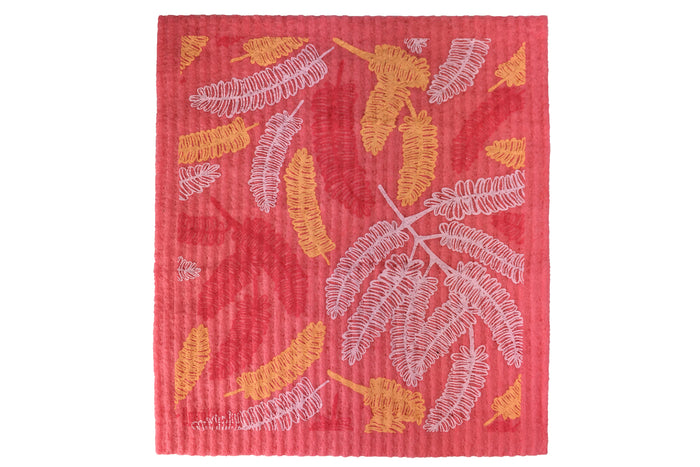 RetroKitchen compostable sponge cloth - poinciana design