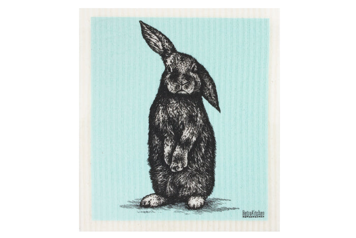 RetroKitchen biodegradable kitchen sponge cloth - Rabbit design