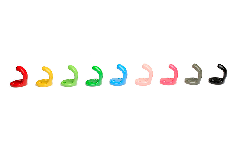 RetroKitchen Small Enamel Wall Hooks - Assorted colours