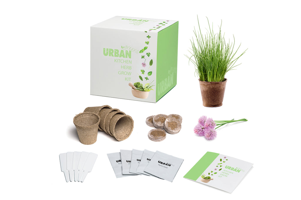 Urban Greens Grow Your Own Kitchen Herbs Garden Kit