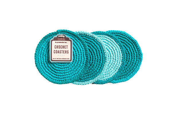 RetroKitchen crocheted coasters