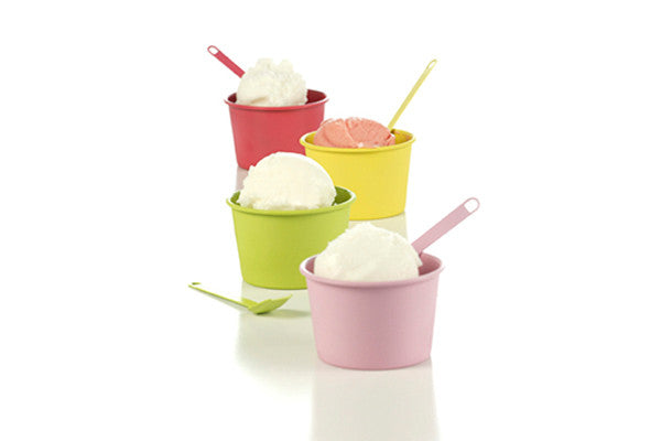 RetroKitchen gelato cup and matching spoon set
