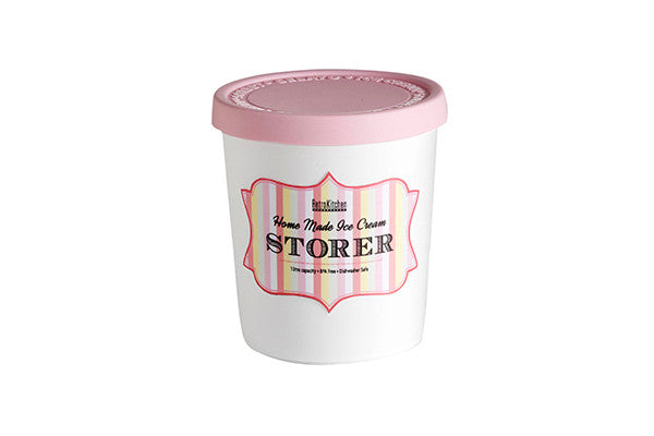 RetroKitchen ice-cream storer with pink lid