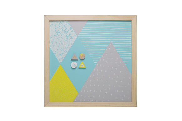 MAGNETIC MEMO BOARD - AQUA
