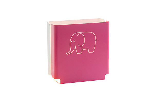 night light in pink with elephant design