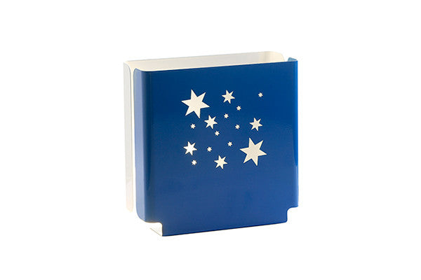 night light in blue with stars design