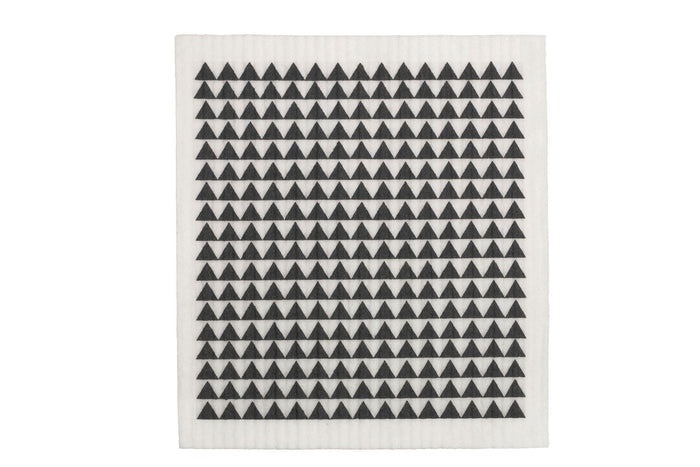 retrokitchen swedish dish cloth with monochrome black and white design. 100% biodegradable