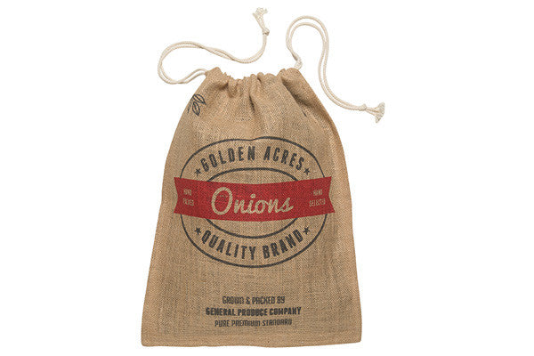 RetroKitchen hessian storage sack for onions
