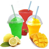 100PCS Spoon Straws Drinking Smoothies Cocktail Milkshake Juice Slush Kid Drinks - HunterMe