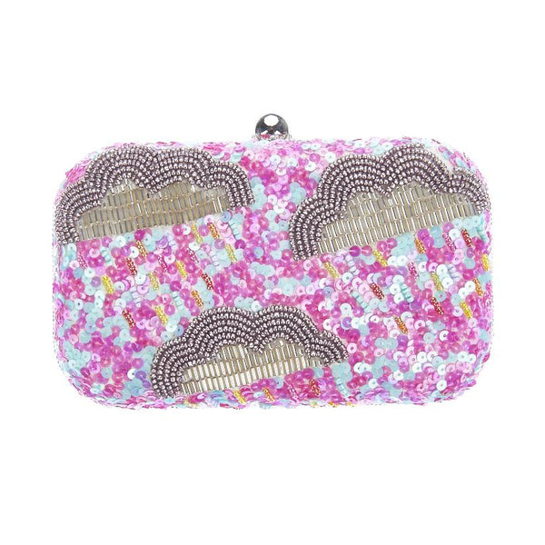 Arcus Box Clutch Pink Blue-From St Xavier