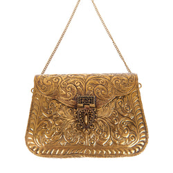 Atria Clutch Gold-From St Xavier