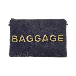 Baggage Clutch Black Gold-From St Xavier