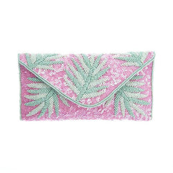Capri Clutch Pink Green-From St Xavier