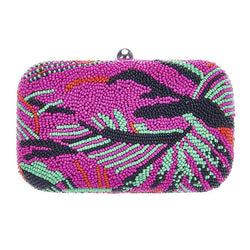 Catalina Box Clutch Bright Pink-From St Xavier