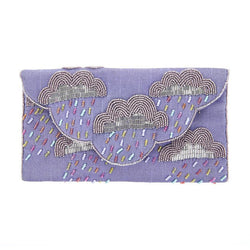 Cirrus Clutch Purple-From St Xavier