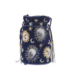 Crescent Drawstring Navy-From St Xavier