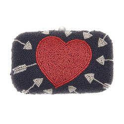 Cupid Box Clutch Black Red-From St Xavier