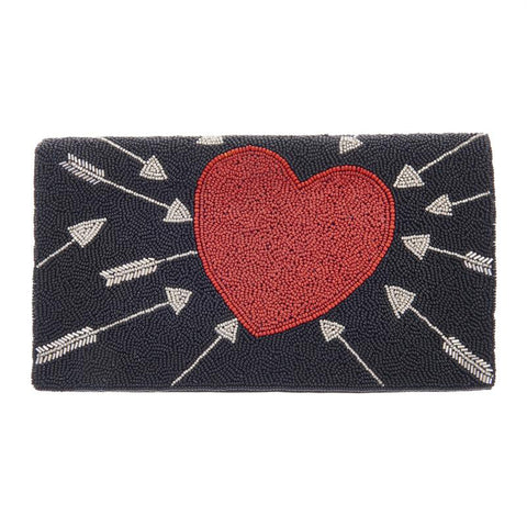 Cupid Clutch Black Red-From St Xavier
