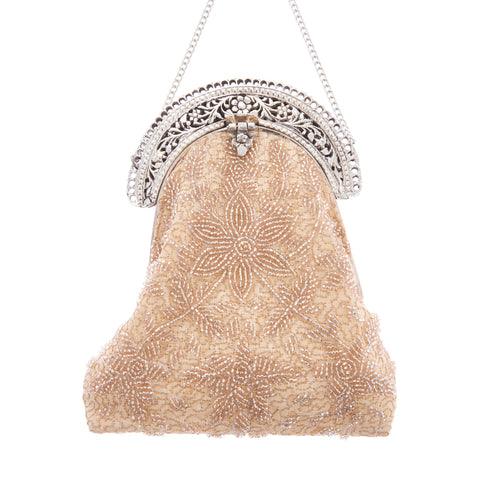 Delilah Purse Clutch Champagne-From St Xavier