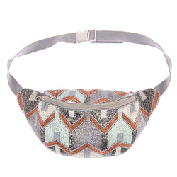 Elijah Waist Bag Silver-From St Xavier