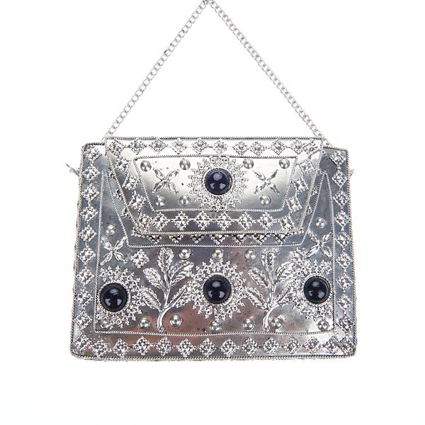 Elmie Bag Silver/Black-From St Xavier