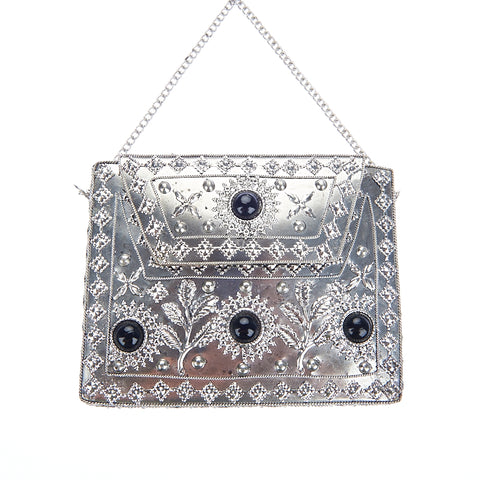 Elmie Bag Silver Black-From St Xavier