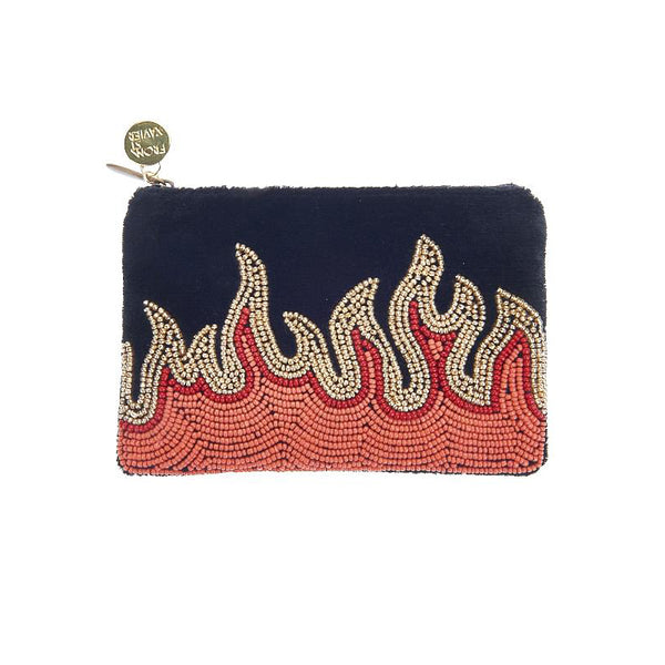 Flames Mini Purse Black Orange-From St Xavier