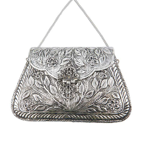 Harriet Bag Silver-From St Xavier