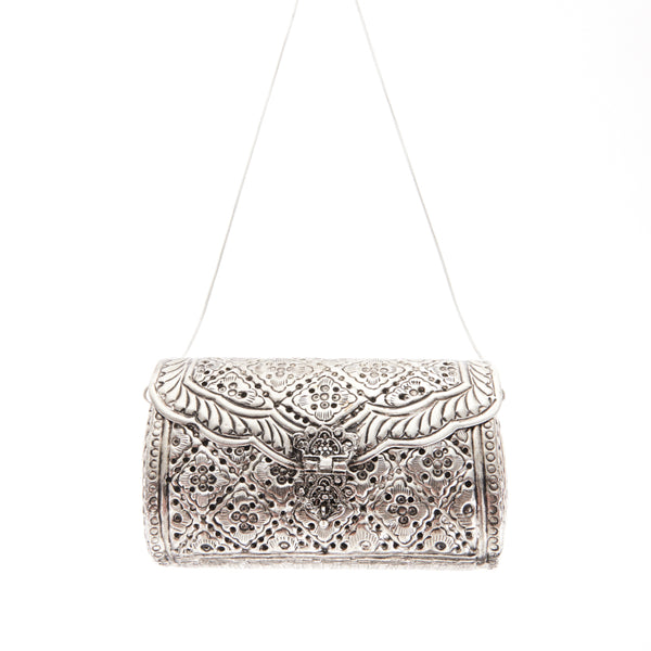 Honor Clutch Silver-From St Xavier