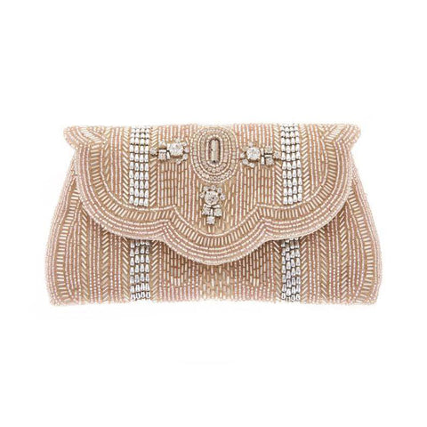 Jocelyn Clutch Champagne-From St Xavier